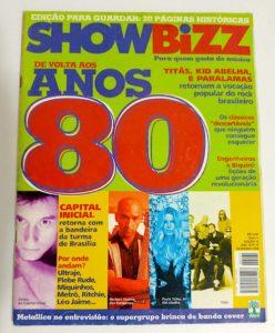 Capa da revista Showbizz - De volta aos anos 80